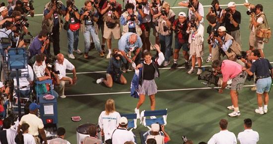 Te 1995. Monika Seleš dočekana je ovacijama na US Openu
