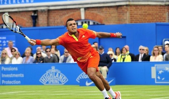 Jo-Wilfried Tsonga (Photo credit should read GLYN KIRK/AFP/GettyImages)