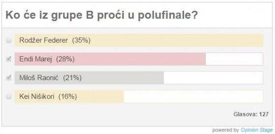 Rezultati ankete, grupa B
