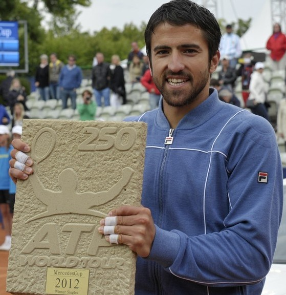 Janko Tipsarevic(Photo credit should read THOMAS KIENZLE/AFP/GettyImages)
