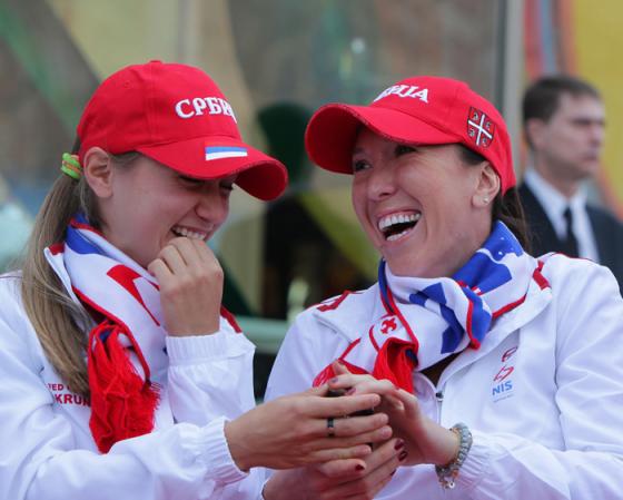 Aleksandra Krunic i Jelena Jankovic