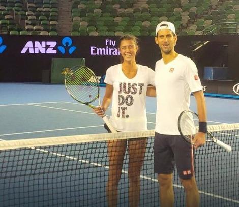Olga Danilovic i Novak Djokovic