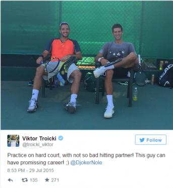 Nole i Viktor trening