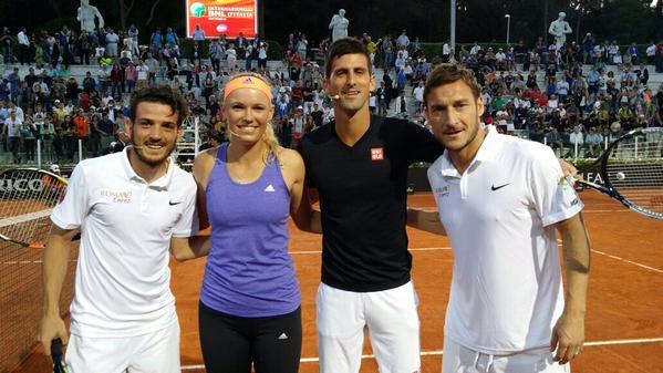 Novak, Caro, Totti i Florenzi