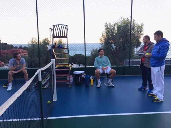Novak Djokovic i Viktor Troicki trenirali zajedno u Monte Karlu