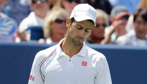 Image result for Sad Novak Djokovic