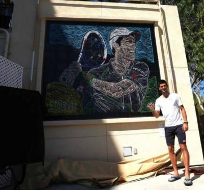 Novakov mural u Indijan Velsu
