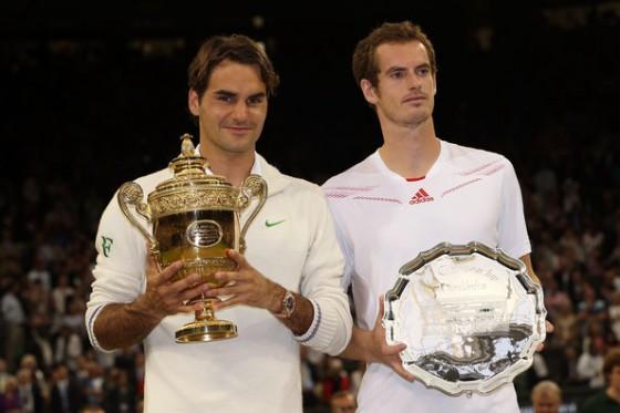 Rodzer Federer i Endi Marej