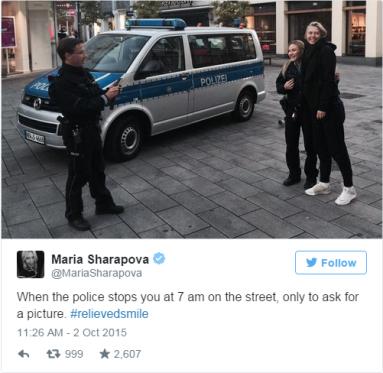 Sarapova i nemacka policija