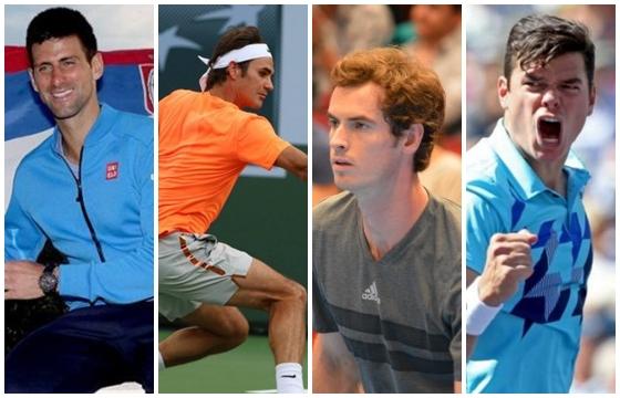 Djokovic, Federer, Marej, Raonic