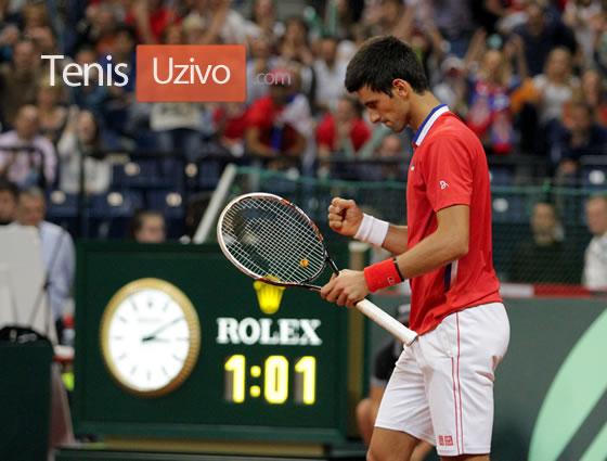 Novak Djokovic slavi