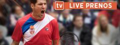 Lajović – Basilašvili live prenos (oko 20.35h) – Gledajte direktan prenos