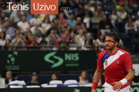 Janko Tipsarevic vs. Milos Raonic - Srbija-Kanada, 13 sep. 2013 - Dejvis Kup