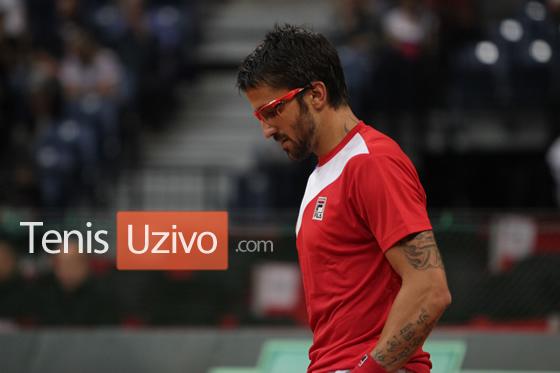Janko Tipsarevic, Davis Cup 2013 - Serbia-Canada (Photo by Clive TenisUzivo.com)