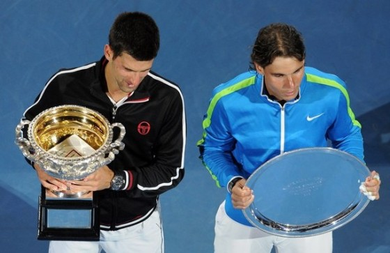 Nole i Rafa. AO.2012. Getty.