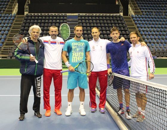 DK tim Srbije u hali Aleksandar Nikolic