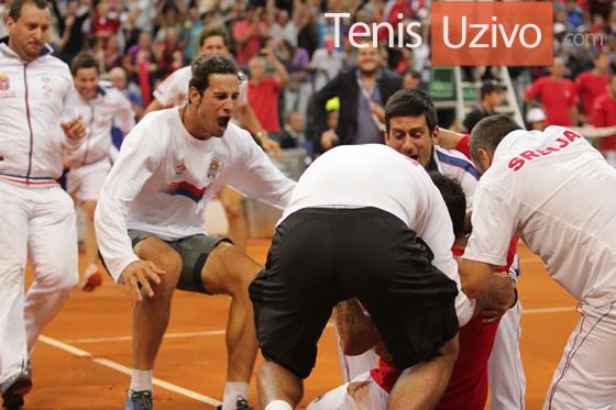 Srbija-Kanada Dejvis kup 2013 - slavlje